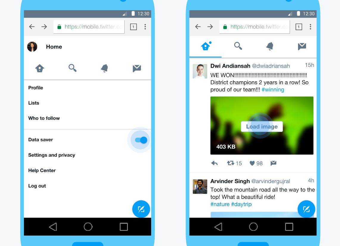 Twitter Lite, une version allégée pour économiser des données