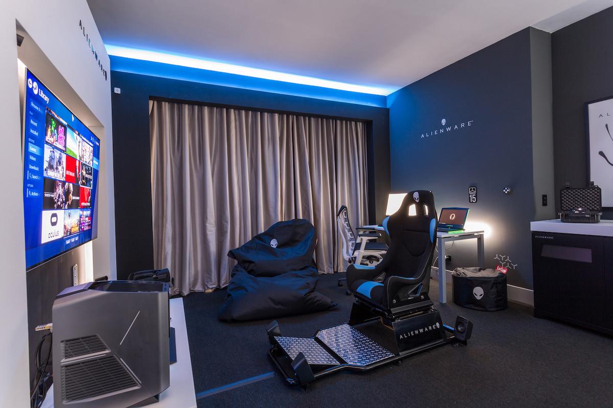 Une suite de l'hotel Hilton de Panama City est le paradis du gaming