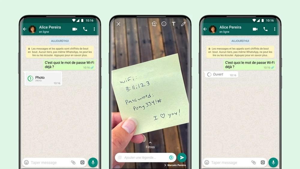 WhatsApp : il est désormais possible d'envoyer des photos et vidéos éphémères
