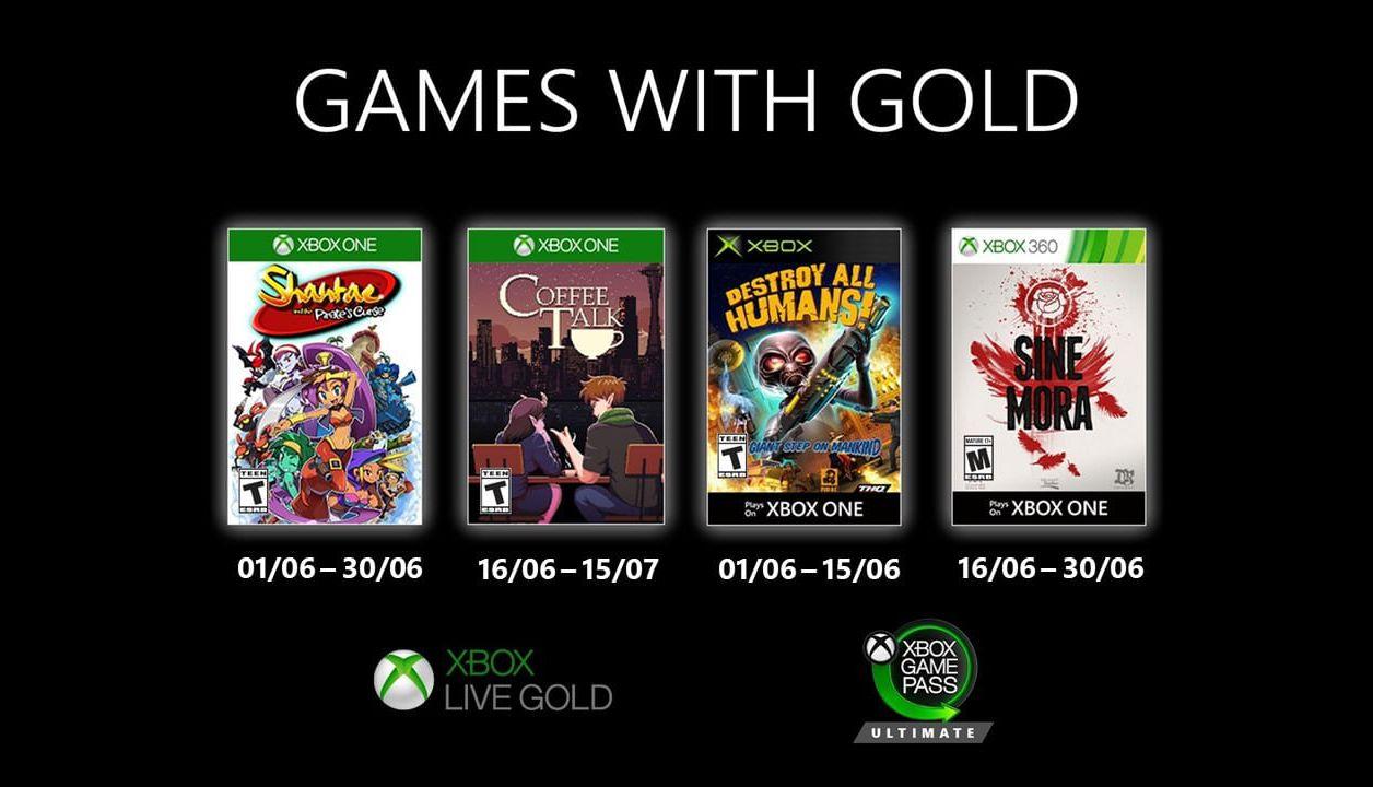Xbox Live Gold : les jeux gratuits de juin 2020 dévoilés